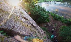 Rock Climbing Photo: Sewing up Garden Path (5.5) on a beautiful summer ...