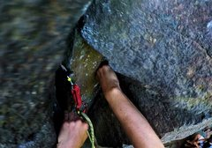 Rock Climbing Photo: Coming to terms with the crux moves of Air Conditi...