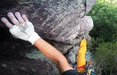 Rock Climbing Photo: Onsight lead of Jacob's Ladder (5.6) on July 3...