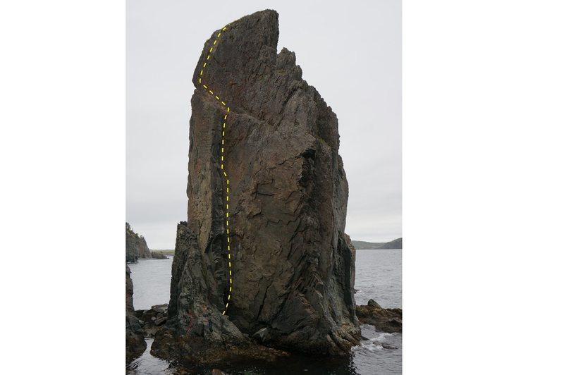 Rock Climbing Photo: Topo front