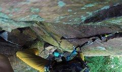 Rock Climbing Photo: Onighting The Bitch (5.8+) on August 13, 2016. Ste...