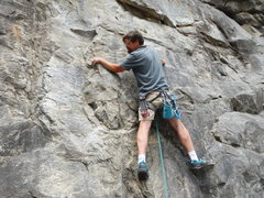 Rock Climbing Photo: The lower portion of the route, maybe 5.5 or 5.6. ...