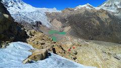 Rock Climbing Photo: Tocllaraju high camp.