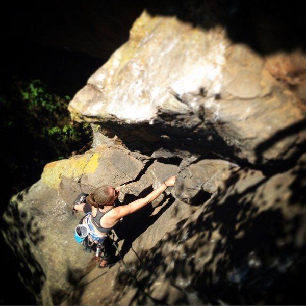 Rock Climbing Photo: Torie half way up
