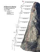 Rock Climbing Photo: Topo for A Slave to Liberty
