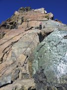 Rock Climbing Photo: Lower rappel off the route