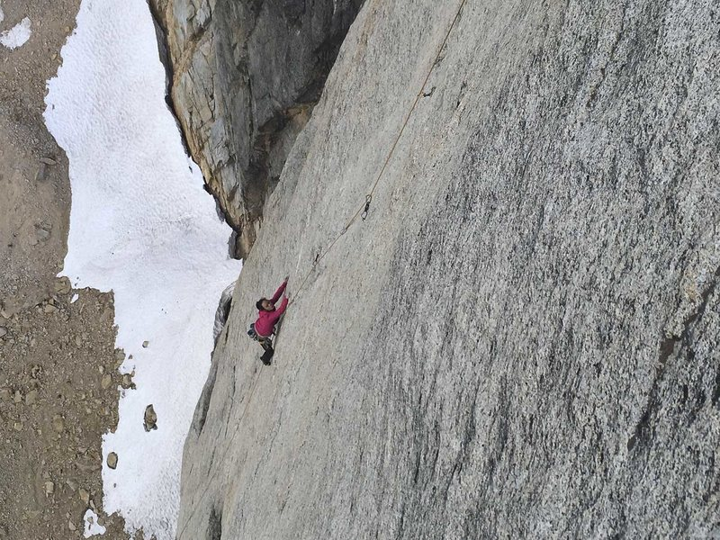 Rock Climbing Photo: The lower bit of pitch 7