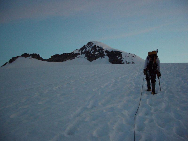 Approaching the summit ramp