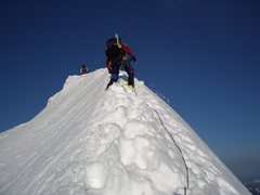 Rock Climbing Photo: Climbing up the narrow summit ridge!