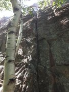 Rock Climbing Photo: Another beta photo for the base of the climb from ...