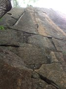 Rock Climbing Photo: The awesome line of Pipe Dreams, as seen from belo...