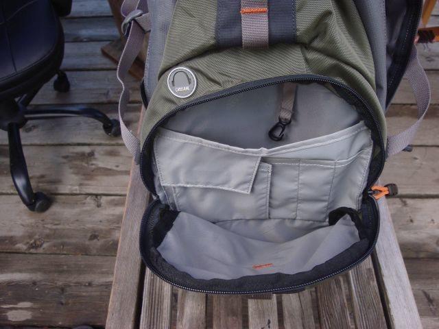 Front bladder, accessory pocket-