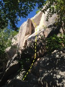 Rock Climbing Photo: The start of Bartleby, as seen from below. Gain th...