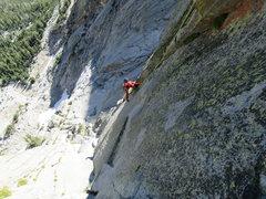 Rock Climbing Photo: Ken Kreis following P4 of The Edge of Time Arete 5...