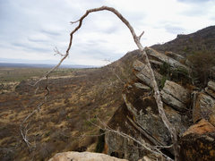 Rock Climbing Photo: View of the top of Two Stooges Wall from the south...