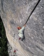Rock Climbing Photo: Jason Smith on the Slammer Hands (Pitch 4) of Sons...