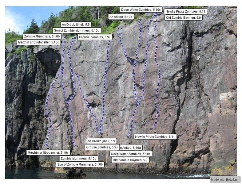 Rock Climbing Photo: Zombie wall