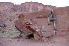 Rock Climbing Photo: My turn on Flat Top