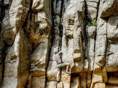 Rock Climbing Photo: Kind of stuck here, I couldn't figure out how ...