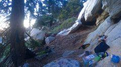 Rock Climbing Photo: Cave Man Sub-Alpine Bivi!!