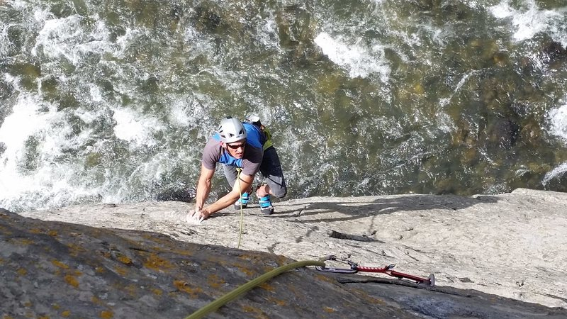 The River Mild 5.10c<br> River Wall<br> Clear Creek Canyon<br> Golden, CO<br> (photo credit: Evan Bosso)