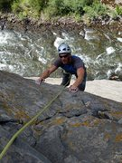 Rock Climbing Photo: The River Mild 5.10c River Wall Clear Creek Canyon...