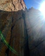 Rock Climbing Photo: The money 3rd pitch of Yorkey's Crumpet.  So g...