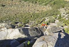 Rock Climbing Photo: Ken following multi-pitch led by Neil, in upper pa...