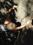 Rock Climbing Photo: Torie sinking another perfect finger lock Toward t...