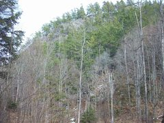 Rock Climbing Photo: From the trail (early spring)