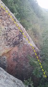 Rock Climbing Photo: Blunt arete.