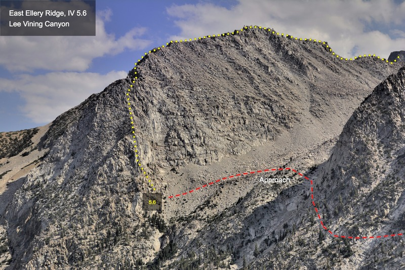 Rock Climbing Photo: East Ellery Ridge from the Tioga Pass Road (US 120...