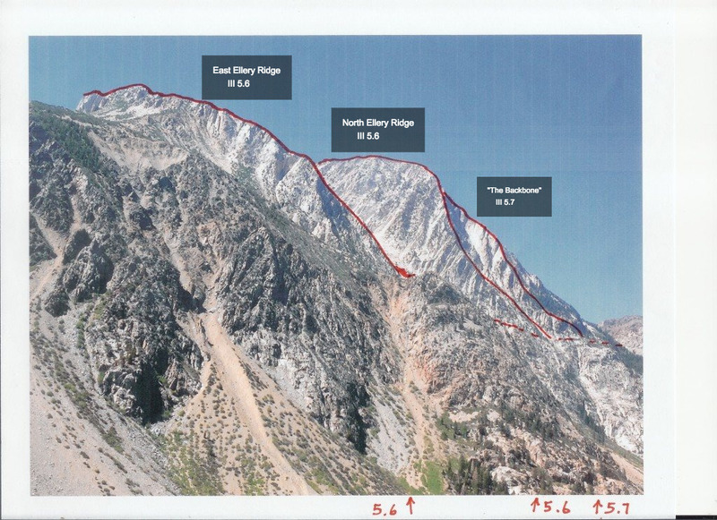 Rock Climbing Photo: Looking up Lee Vining Canyon at the Ellery Ridges....