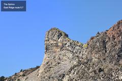 Rock Climbing Photo: Sphinx East Ridge route (5.7)