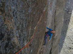 Rock Climbing Photo: The incredible face traverse on P4
