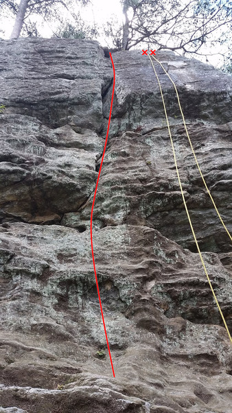 Rock Climbing Photo: A beta picture of the broken crack system.
