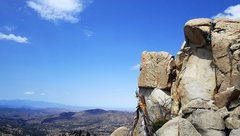Rock Climbing Photo: Joan pulling the roof at the top of Barbara Ann, b...