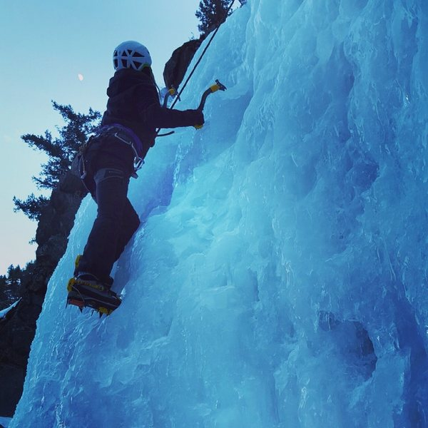 Clear creek ice climbing