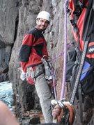 "Rock Climbing Photo: Kevin on ""An Drouiz Ijinek"""