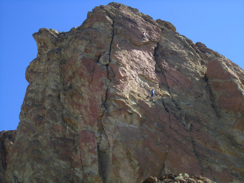 Rock Climbing Photo: Alan on the first ascent of Mans Best Friend