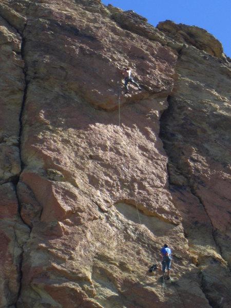 Rock Climbing Photo: Alan Collins and Chris Hatzai on the FA of Man&#39...