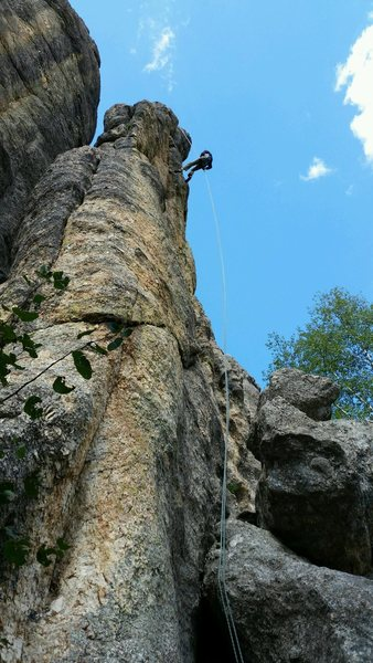 Rappel off Lightning Rod.  Shock Therapy is the obvious line to the left