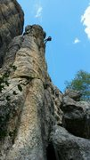 Rock Climbing Photo: Rappel off Lightning Rod.  Shock Therapy is the ob...