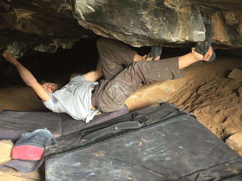"Rock Climbing Photo: Moving towards fresh air on ""Smelly Dark Hole..."