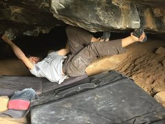 "Rock Climbing Photo: Moving towards fresh air on ""Smelly Dark Hole..."