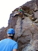 Rock Climbing Photo: at the second clip