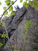 Rock Climbing Photo: The meat of the route. The upper dihedral of Flipp...