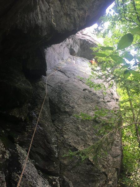 Rock Climbing Photo: Inital seam