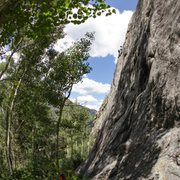 Rock Climbing Photo: Moving through one of the crux sections on 'Th...