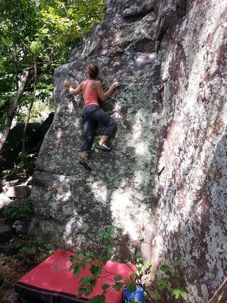 Rock Climbing Photo: Tanya cruisin